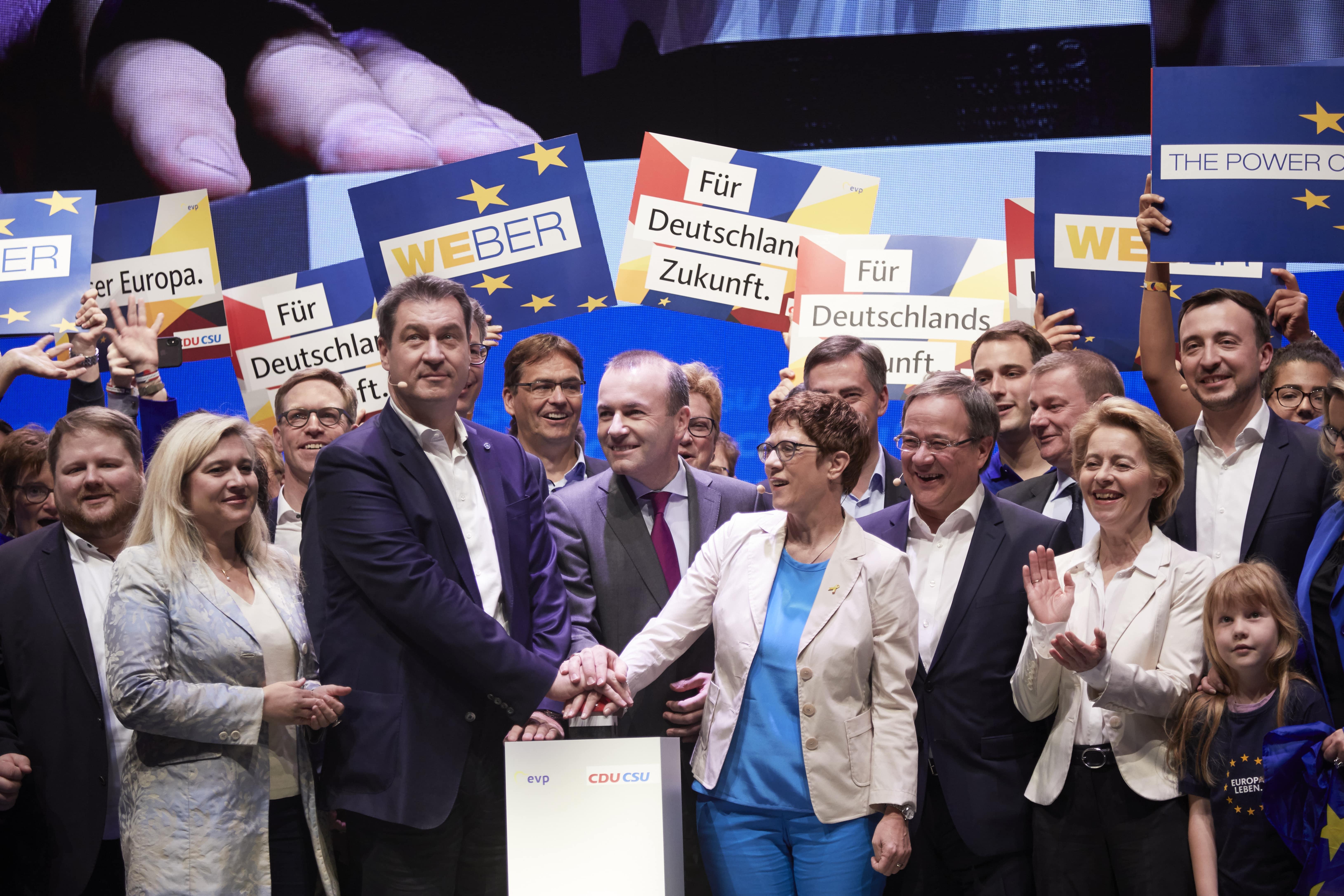 Auftaktveranstaltung zum Europawahlkampf von CDU und CSU am 27. April 2019 in Münster. CDU/Laurence Chaperon